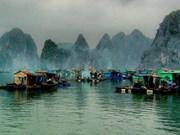 越南广宁省下龙湾上的万门渔村跻身景色美轮美奂之村的前22强