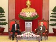 阮富仲总书记会见莫桑比克总理多罗萨里奥