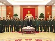 越共中央总书记阮富仲会见老挝人民军代表团