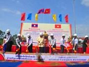 越南劳保-老挝丹沙湾口岸沙恩桥项目正式动工兴建