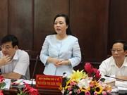 越南卫生部部长与隆安省领导举行工作会谈