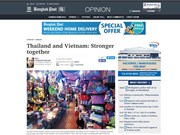 泰国媒体高度评价泰越两国关系的发展展望