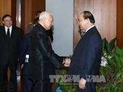 越南政府总理阮春福会见泰国枢密院主席和国家立法议会主席