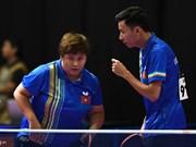 第29届东南亚运动会:越南乒乓球选手丁光灵和梅黄美妆夺得铜牌