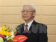 阮富仲总书记启程对印度尼西亚和缅甸进行访问