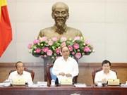 越南政府总理召开政府立法工作专题会议