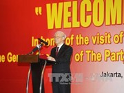 阮富仲总书记期望越南与印尼贸易投资合作将出现新变化