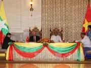 越南与缅甸签署4项合作文件