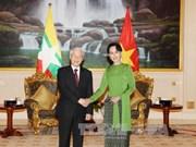 越共中央总书记阮富仲会见缅甸国家顾问昂山素季