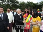 越共中央总书记阮富仲圆满结束访问印度尼西亚和缅甸之旅
