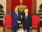 越共中央总书记阮富仲会见埃及总统阿卜杜勒•法塔赫•塞西