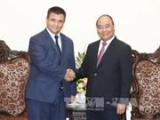 越南政府总理阮春福会见乌克兰外长克里姆金
