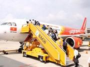 九二国庆假期越捷航空运送旅客26万人次