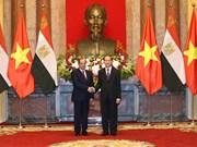 越南国家主席陈大光与埃及总统塞西举行会谈