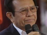 柬埔寨法院决定临时拘留反对派救国党主席根索卡