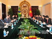 越南政府副总理兼外交部长范平明与巴西外交部长举行会谈