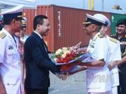 印度海军军船访问海防市