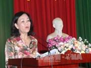 越共中央民运部长张氏梅接触林同省选民