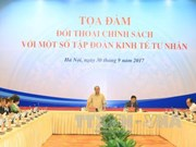 政府总理阮春福与国内一流私人经济集团领导进行政策对话