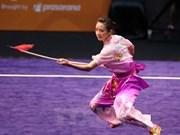 2017年世界武术锦标赛:越南运动员杨翠薇夺得金牌