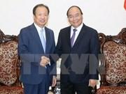 越南政府总理阮春福会见韩国三星电子公司首席执行官申宗钧