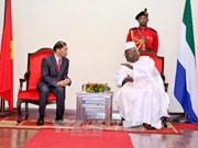 越南与塞拉利昂加强多方面合作