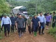 政府副总理郑廷勇赴和平省视察指导山体滑坡抢险救援工作