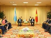阮春福总理会见联合国各组织驻越办事处首席代表