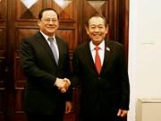 越南政府副总理张和平与老挝政府副总理宋赛 • 西潘敦举行会谈