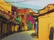 """日本女画家""""缩小世界中的越南""""画展在岘港正式开幕"""