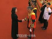越南国家副主席邓氏玉盛出席泰国先王普密蓬遗体火化仪式