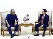 越南政府副总理武德儋会见亚足联主席谢赫