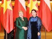 越南国会主席阮氏金银会见智利总统米歇尔·巴切莱特·赫里亚