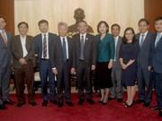 岘港市领导会见前来出席APEC会议的国际组织领导