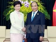 阮春福总理会见中国香港特别行政区行政长官林郑月娥