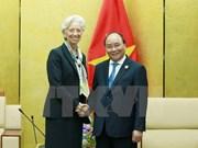越南政府总理阮春福会见国际货币基金组织总裁克里斯蒂娜·拉加德