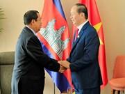 2017 年APEC会议: 越南国家主席陈大光会见柬埔寨首相和韩国总统