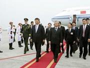 中共中央总书记、中国国家主席习近平抵达首都河内 开始对越南进行国事访问