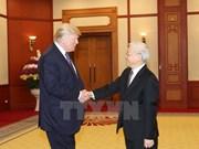 越共中央总书记阮富仲会见美总统特朗普