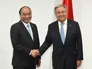 第31届东盟峰会:阮春福会见联合国秘书长和欧洲理事会主席