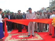 设在柬埔寨上丁省的越柬友谊纪念碑修缮工程竣工