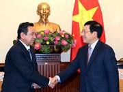 政府副总理范平明会见蒙古驻越大使