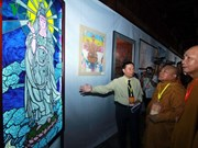 越南当代佛教艺术展和佛事成就展在河内开展