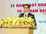 政府副总理武德儋出席国民经济大学的11.20越南教师节35周年纪念典礼