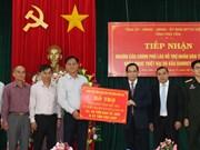 老挝政府协助越南富安省第十二号台风受灾群众开展恢复重建工作
