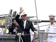 泰国举行东盟成立50周年国际舰队检阅活动