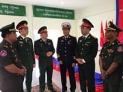 越南人民军年轻军官代表团在柬埔寨进行交流