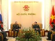 越南国防部长吴春历会见俄罗斯国防部高级代表团