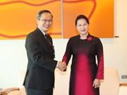 越南国会主席阮氏金银开始对新加坡进行正式访问