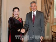 越南国会主席阮氏金银会见新加坡总理李显龙